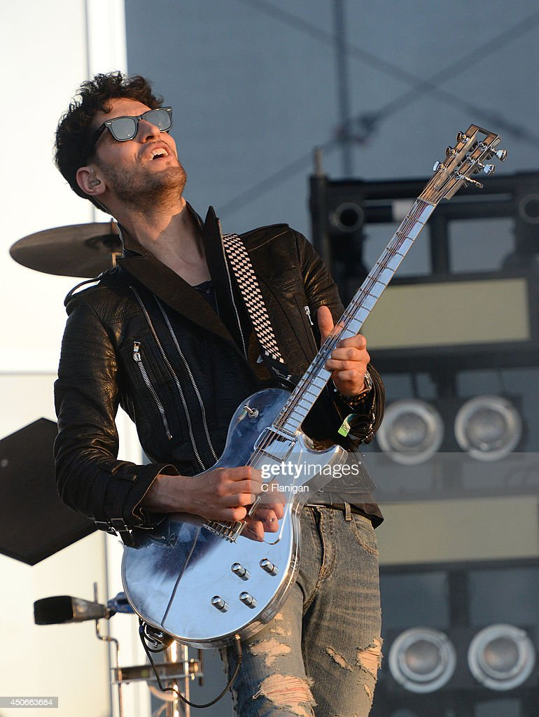 David Macklovitch of Chromeo performs during the 2014 Bonnaroo Music & Arts Festival on June 14, 2014 in Manchester, Tennessee.