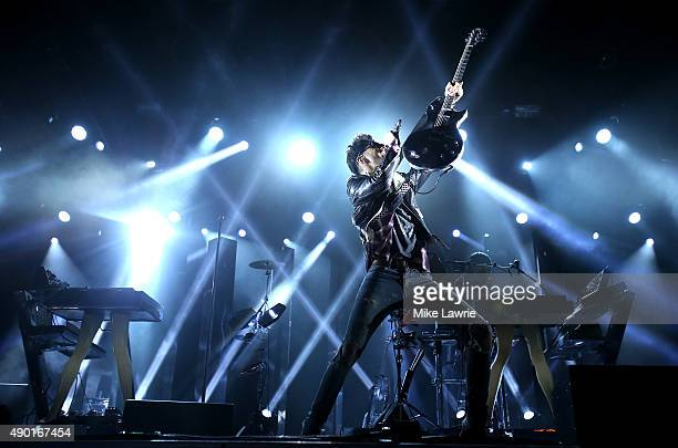David Macklovitch of Chromeo performs onstage during day two of the Boston Calling Music Festival at Boston City Hall Plaza on September 26 2015 in...