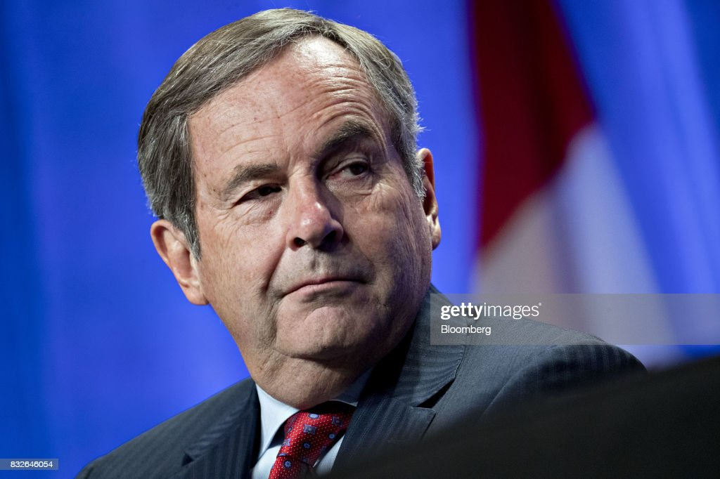 David MacNaughton, Canada's ambassador to the U.S., listens during the first round of North American Free Trade Agreement (NAFTA) renegotiations in Washington, D.C., U.S., on Wednesday, Aug. 16, 2017. Canada and Mexico largely want to defend the advantages they have enjoyed under the two-decade-old Nafta deal, keep it free of tariffs and broaden it to new industries. President Donald Trump has called Nafta the worst trade pact in history and promised to fix it through negotiations or withdraw. Photographer: Andrew Harrer/Bloomberg via Getty Images