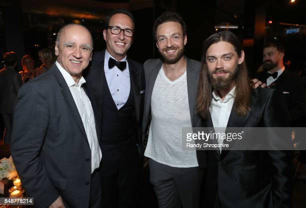 David Madden Charlie Collier Ross Marquand and Tom Payne at AMC BBCA and IFC Emmy party at BOA Steakhouse on September 17 2017 in West Hollywood...