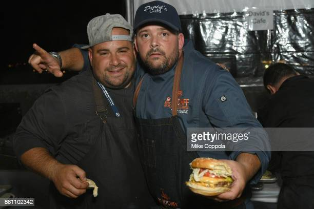 David Malbequi of David's Cafe attends the Food Network Cooking Channel New York City Wine Food Festival Presented By CocaCola Blue Moon Burger Bash...