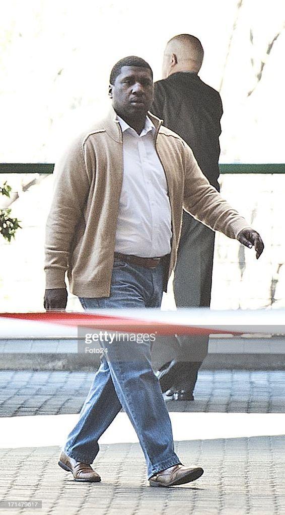 David Manaway outside the Pretoria Heart Hospital on June 25, 2013, in Pretoria, South Africa. Mandela's health is described as 'critical'.