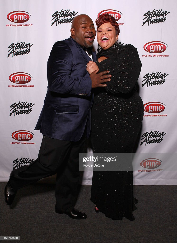 David Mann and Tamela Mann attend the 28th Annual Stellar Awards at Grand Ole Opry House on January 19, 2013 in Nashville, Tennessee.