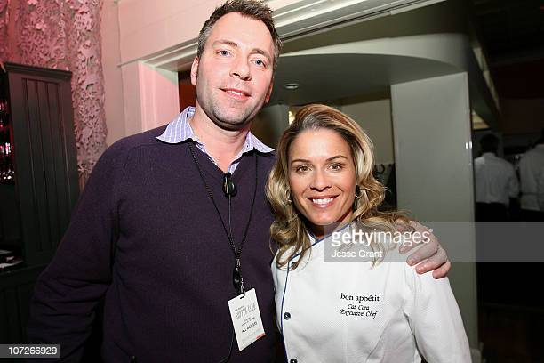 David Manning and chef Cat Cora attend 'The Hottie and The Nottie' Dinner hosted by the Bon Appetit Supper Club on January 20 2008 in Park City Utah