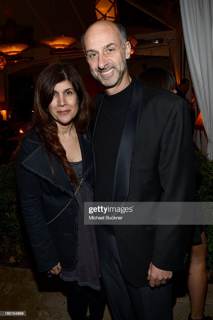 David Marciano (R) and guest attend the Entertainment Weekly Pre-SAG Party hosted by Essie and Audi held at Chateau Marmont on January 26, 2013 in Los Angeles, California.