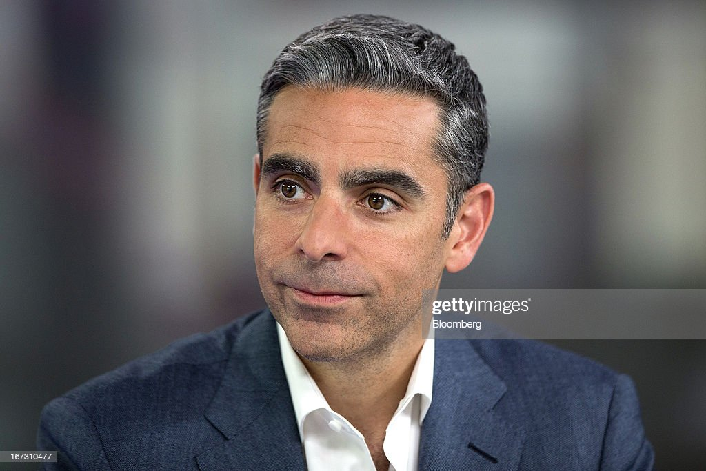 David Marcus, president of PayPal, a unit of EBay Inc., pauses during a Bloomberg Television interview in London, U.K., on Wednesday, April 24, 2013. EBay, based in San Jose, California, is expecting payment volume at PayPal to double in the next three years as people increasingly shop and pay for goods on mobile devices. Photographer: Simon Dawson/Bloomberg via Getty Images