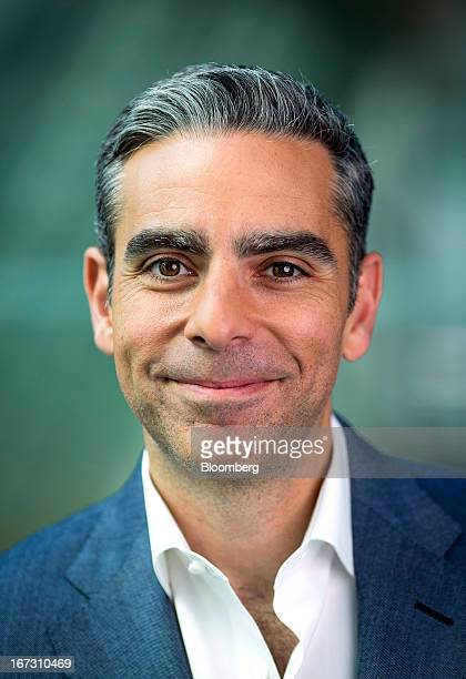 David Marcus president of PayPal a unit of EBay Inc poses for a photograph following a Bloomberg Television interview in London UK on Wednesday April...