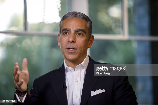 David Marcus vice president of messaging products for Facebook Inc speaks during a Bloomberg Television interview on the sidelines of the Wall Street...