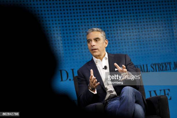 David Marcus vice president of messaging products for Facebook Inc speaks during the Wall Street Journal DLive global technology conference in Laguna...