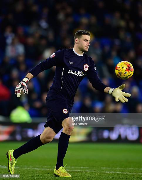 David Marshall of Cardiff in action during the Sky Bet Championship match between Cardiff City and Blackburn Rovers at Cardiff City Stadium on...