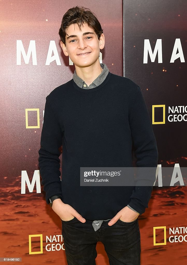 David Mazouz attends the National Geographic Channel 'MARS' New York Premiere at the School of Visual Arts on October 26, 2016 in New York City.