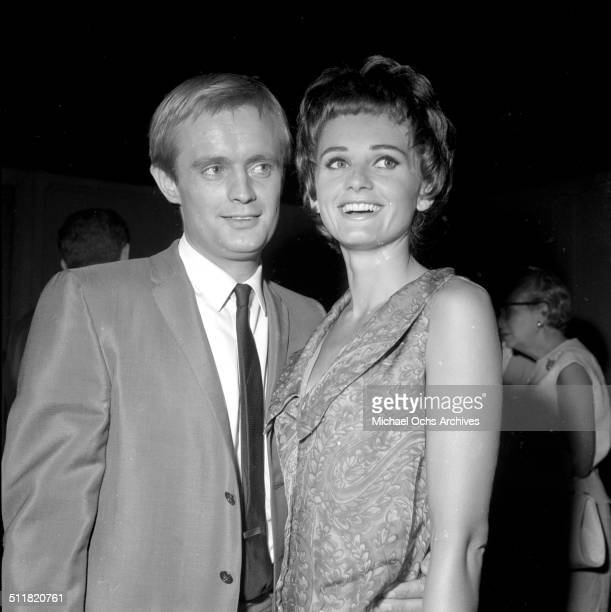 David McCallum and Jill Ireland attend the Emmy awards in Los AngelesCA