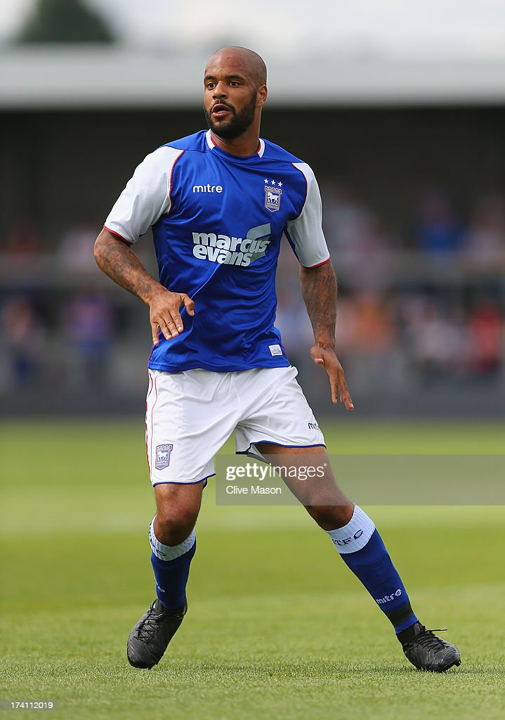 David McGoldrick of Ipswich Town in action during the pre season friendly match between Barnet and Ipswich Town at The Hive on July 20, 2013 in Barnet, England.