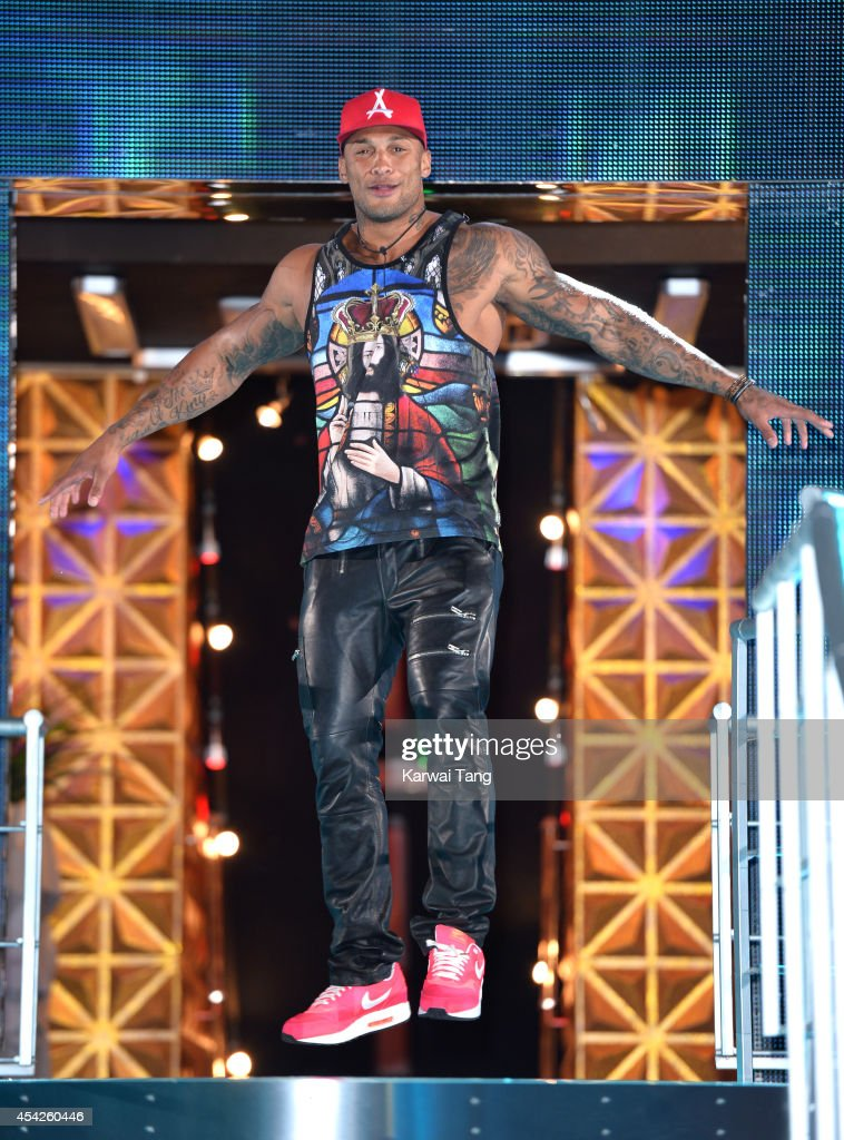 David McIntosh is evicted from the Celebrity Big Brother house at Elstree Studios on August 27, 2014 in Borehamwood, England.