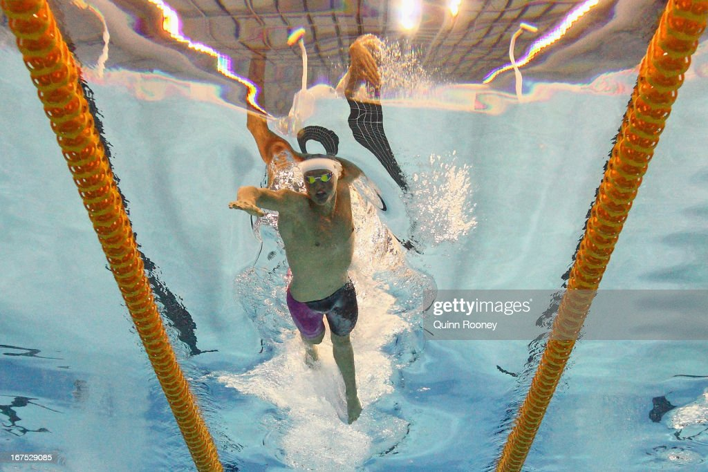 David McKeon of Australia competes in the Men's 400 Metre Freestyle during day one of the Australian Swimming Championships at the SA Aquatic and Leisure Centre on April 26, 2013 in Adelaide, Australia.
