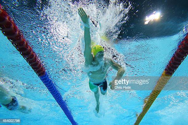 David McKeon of Australia swims the Men's 400m Freestyle final during day three of the 2014 Pan Pacific Championships at Gold Coast Aquatics on...