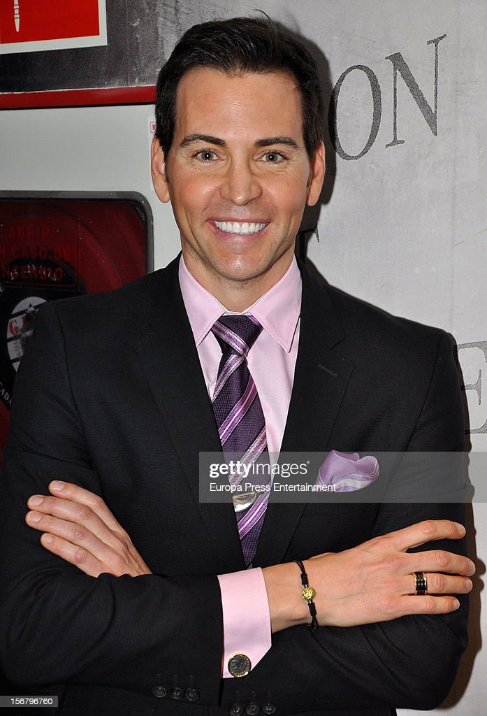 David Meca attends the presentation of the charity bracelet by Suarez and Aladina Foundation on November 20, 2012 in Madrid, Spain.