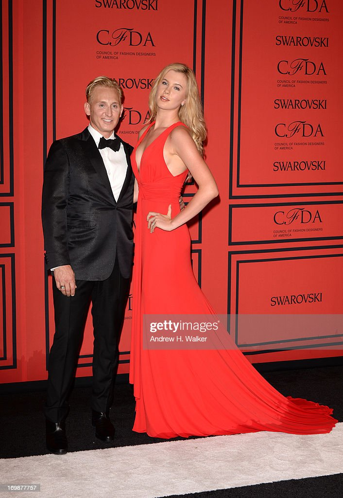 David Meister and Ireland Baldwin attend 2013 CFDA Fashion Awards at Alice Tully Hall on June 3, 2013 in New York City.