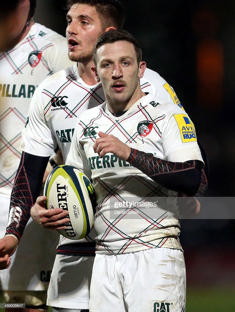 David Mele, scrum half, of Leicester Tigers in action during LV= Cup Round 2 match between Worcester Warriors and Leicester Tigers at the Sixways, Worcester on November 15, 2013