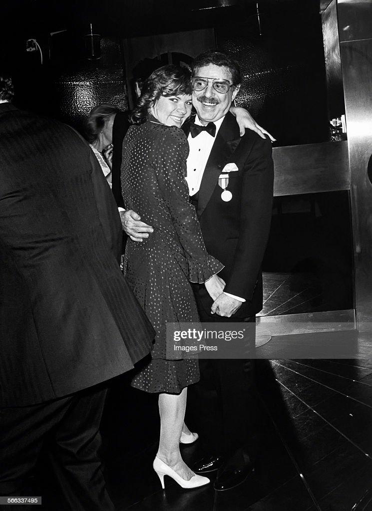 David Merrick and Karen Prunczik at Studio 54 circa 1982 in New York City.