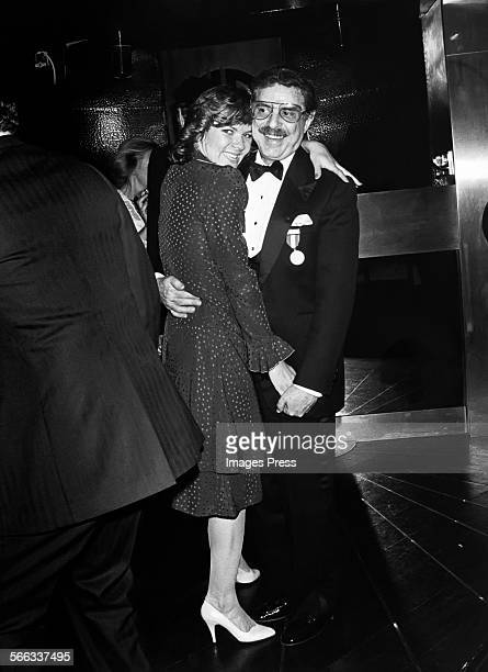 David Merrick and Karen Prunczik at Studio 54 circa 1982 in New York City