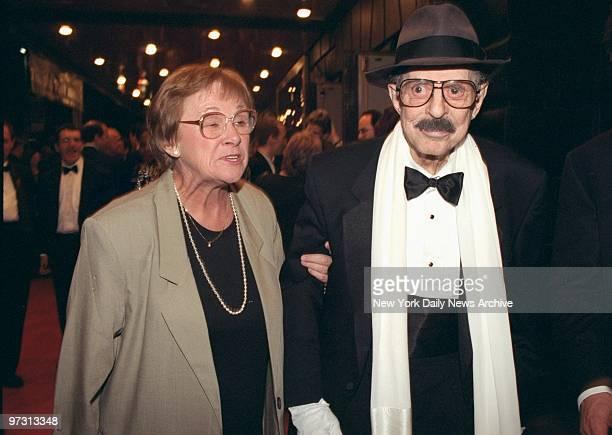 David Merrick attending the Tony Awards
