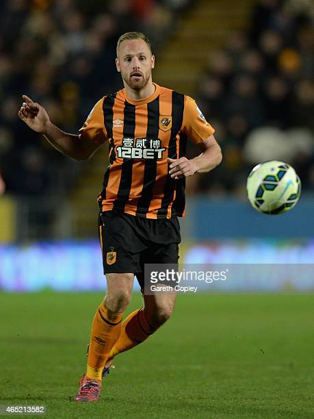 David Meyler of Hull City during the Barclays Premier League match between Hull City and Sunderland at KC Stadium on March 3 2015 in Hull England