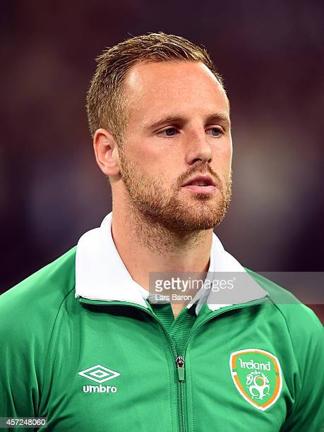 David Meyler of Republic of Ireland looks on during the EURO 2016 Group D qualifying match between Germany and Republic of Ireland on October 14 2014...