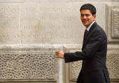 David Miliband the Foreign Secretary arrives at the Foreign Office on June 5 2009 in London England Prime Minister Gordon Brown is today carrying out...