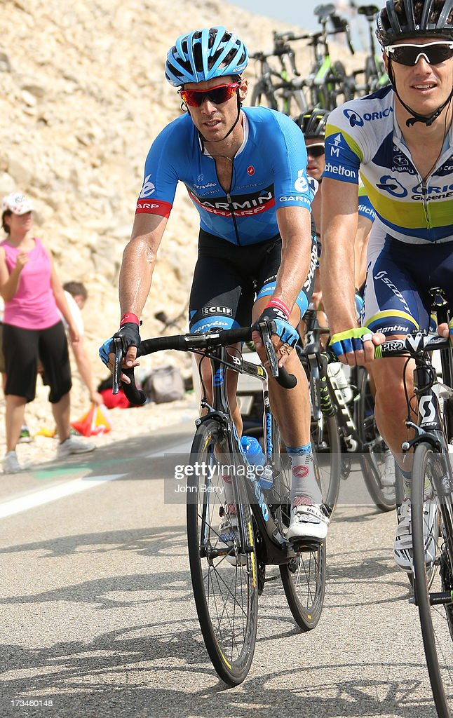 David Millar of Great Britain and Team Garmin-Sharp in action during stage fifteen of the 2013 Tour de France, a 242.5KM road stage from Givors to Mont Ventoux, on July 14, 2013 in Mont Ventoux, France.