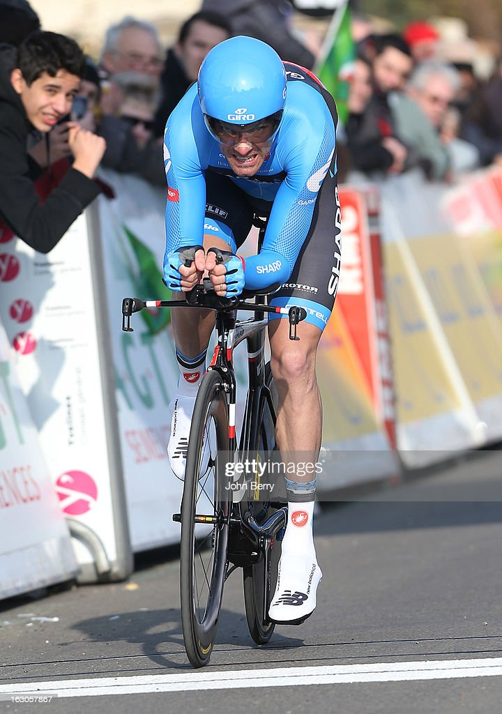 David Millar of Great Britain and Team Garmin-Sharp rides during the prologue of 2.9 km of the 2013 Paris-Nice on March 3, 2013 in Houilles, Yvelines, France.