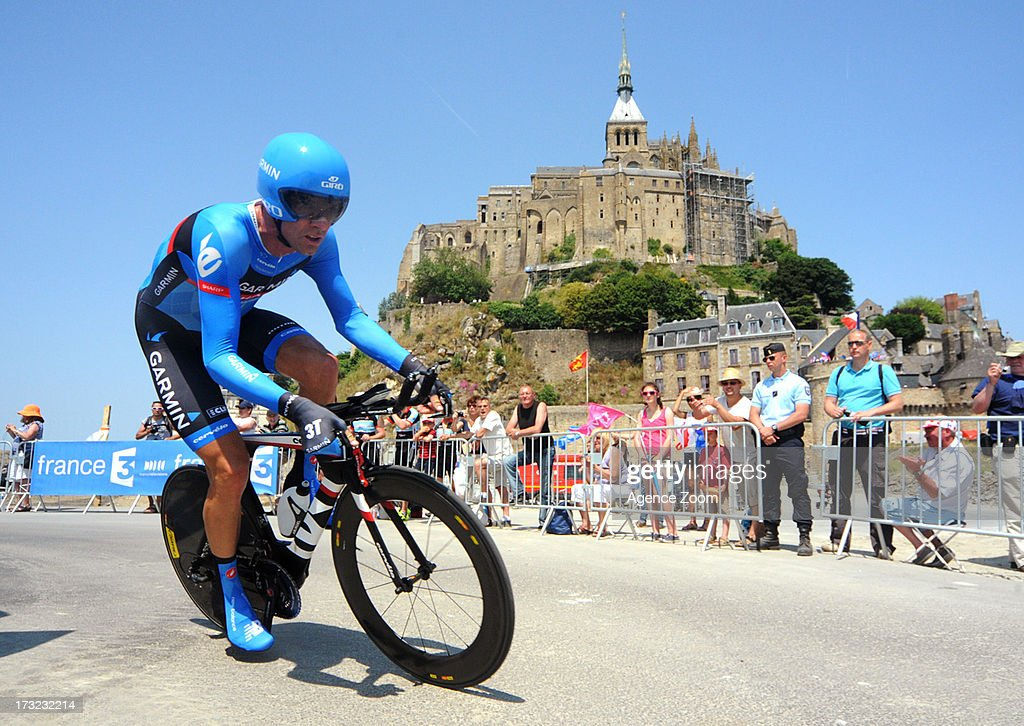 David Millar of Team Garmin-Sharp during Stage 11 of the Tour de France from Avranches to Mont-Saint-Michel on July 10, 2013 in Mont-Saint-Michel, France.