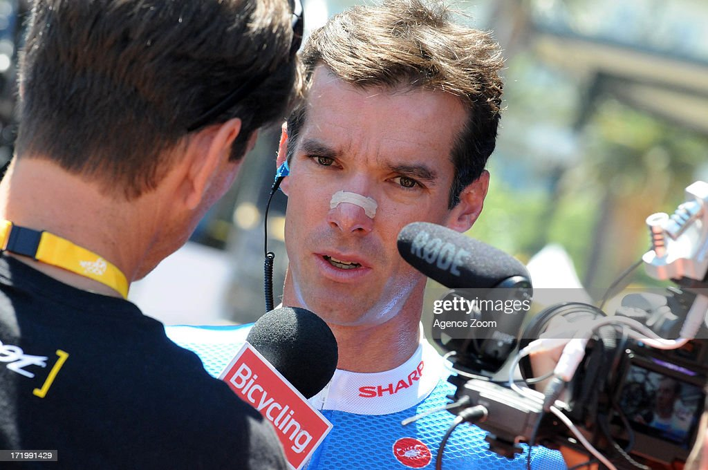 David Millar of Team Garmin-Sharp during Stage 2 of the Tour de France a road stage between Bastia and Ajaccio on June 30, 2013 in Ajaccio, Corsica, France.