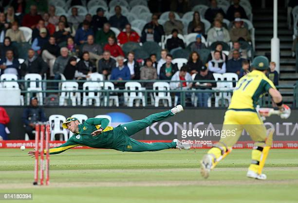 David Miller during the Momentum ODI Series 5th ODI match between South Africa and Australia at PPC Newlands on October 12 2016 in Cape Town South...