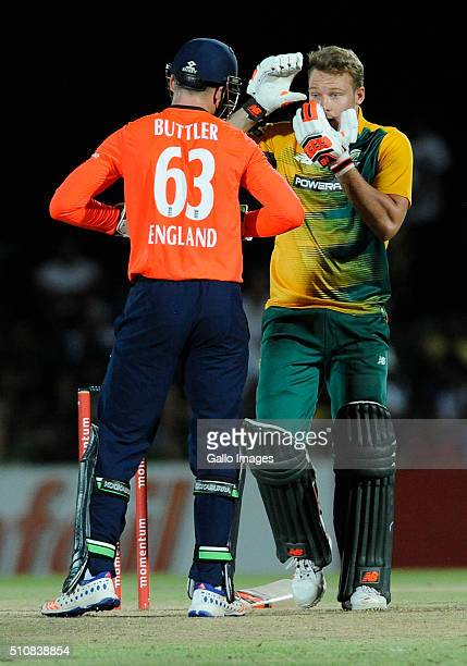David Miller during the T20 warmup match between South Africa A and England at Boland Park on February 17 2016 in Paarl South Africa
