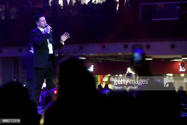 David Miller of Il Divo performs during the Grand Opening of The Mall of Qatar at Mall of Qatar on April 8 2017 in Doha Qatar