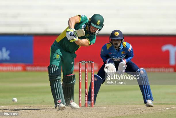 David Miller of South Africa bats during the 2nd ODI between South Africa and Sri Lanka at Sahara Stadium Kingsmead on February 01 2017 in Durban...