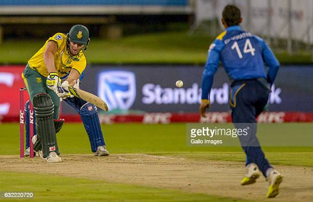 David Miller of South Africa during the 1st KFC T20 International match between South Africa and Sri Lanka at SuperSport Park on January 20 2017 in...