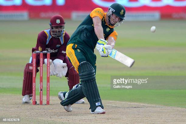 David Miller of South Africa during the 1st Momentum ODI between South Africa and West Indies at Sahara Stadium Kingsmead on January 16 2015 in...