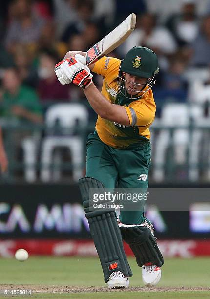 David Miller of South Africa in action during the 3rd KFC T20 International match between South Africa and Australia at PPC Newlands on March 09 2016...
