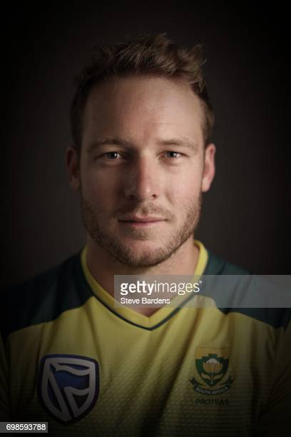 David Miller of South Africa poses for a portrait ahead of the Twenty20 International between England and South Africa at Ageas Bowl on June 20 2017...