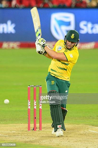 David Miller of the proteas during the 1st KFC T20 International match between South Africa and Sri Lanka at SuperSport Park on January 20 2017 in...