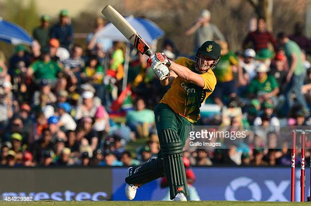 David Miller of the Proteas during the 2nd KFC T20 International match between South Africa and New Zealand at SuperSport Park on August 16 2015 in...