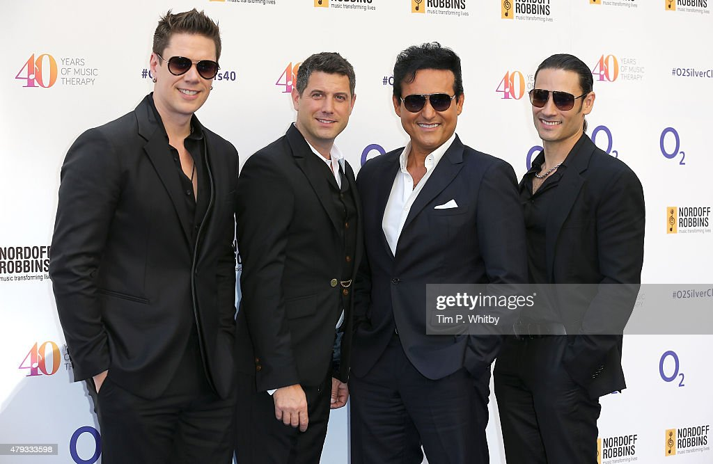 David Miller, Sebastien Izambard, Carlos Marin, and Urs Buhler of Il Divo attend the Nordoff Robbins 02 Silver clef Awards at The Grosvenor House Hotel on July 3, 2015 in London, England.
