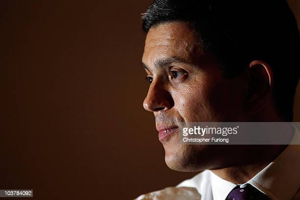 David Milliband addresses party members in Bolton Town Hall as part of his leadership tour of the North West on September 2 2010 in Bolton United...