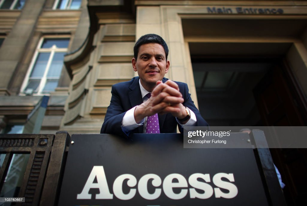 David Miliband Takes His Leadership Campaign To The North West