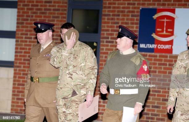 David Millican leaves Colchester Court martial centre after being sentenced Colchester Garrison Essex
