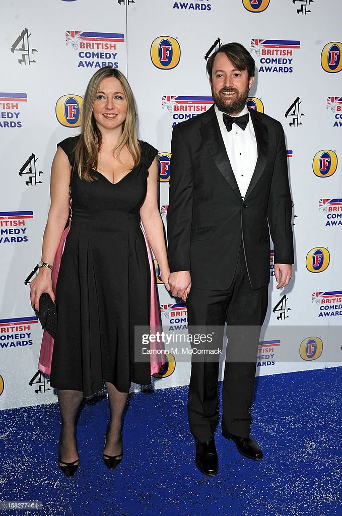 David Mitchell and Victoria Coren attend the British Comedy Awards at Fountain Studios on December 12, 2012 in London, England.
