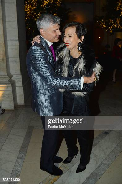 David Monn and Josie Natori attend David Monn Launches 'The Art of Celebrating' at New York Public Library on November 14 2016 in New York City