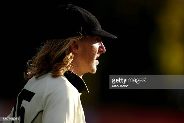 David Moody of the Warriors watches on from the outfield during day three of the Sheffield Shield match between New South Wales and Western Australia...